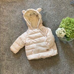 NWOT....ZARA KIDS....babygirl puffer coat 6-9M